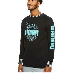 NWT $95 Puma Diamond Team Crew Sweatshirt M